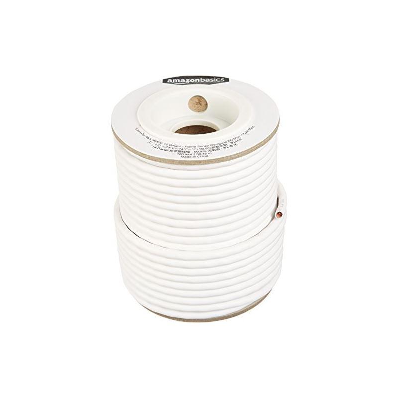 Speaker Wire - 14-Gauge, 99.9% Oxygen-Free Copper, 100 Feet